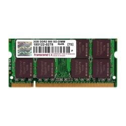 Memoria Transcend SO-DIMM 2 GB, PC-6400, DDR2, 800 MHz
