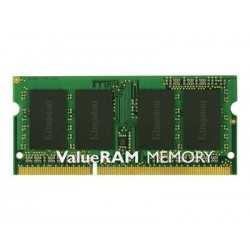 Kingston ValueRAM - Memoria - 2 GB - SO DIMM a 204 pin - DDR3 - 1333 MHz / PC3-10600 - CL9 - 1.5 V - senza buffer - non ECC
